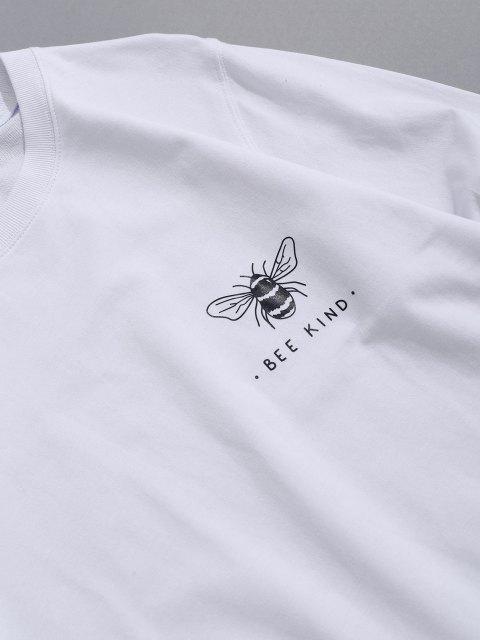 shop Honey Bee Graphic Crew Neck Lounge Sweatshirt - WHITE M Mobile