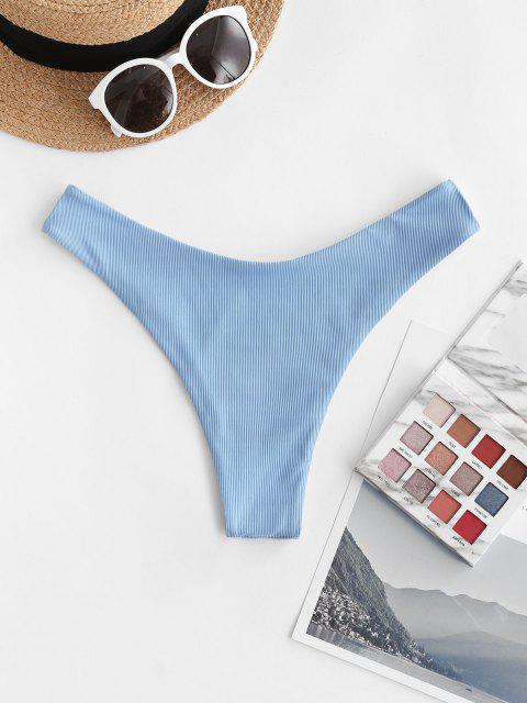 ZAFUL Freche Bikini Unterteile mit Gerippten Beinen - Helles Himmelblau M Mobile