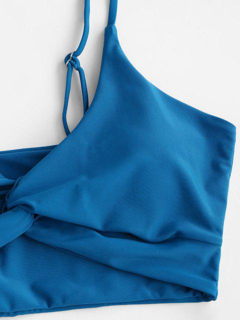 ZAFUL Tankini de Corte Alto Acolchado - Azul Profundo L Mobile