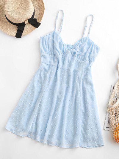 Swiss Dots Bustier Cami Dress - Light Blue S