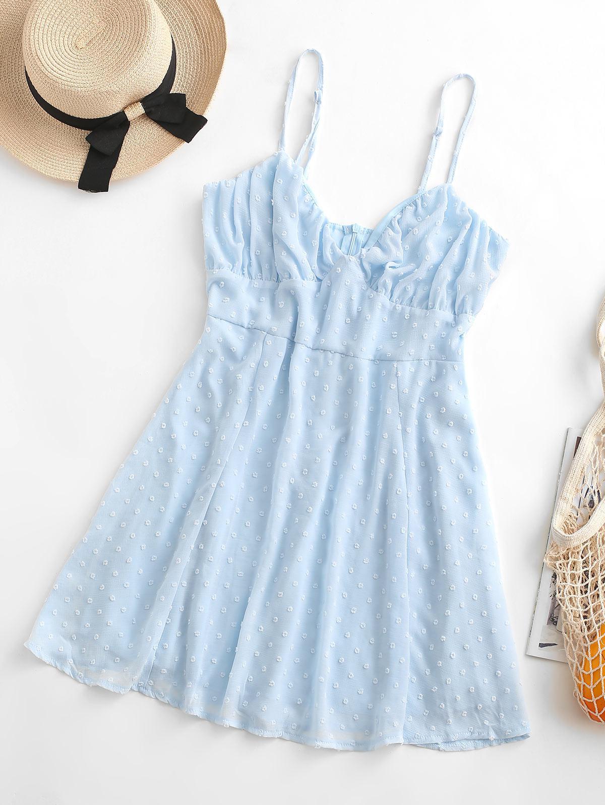 Swiss Dots Bustier Cami Dress