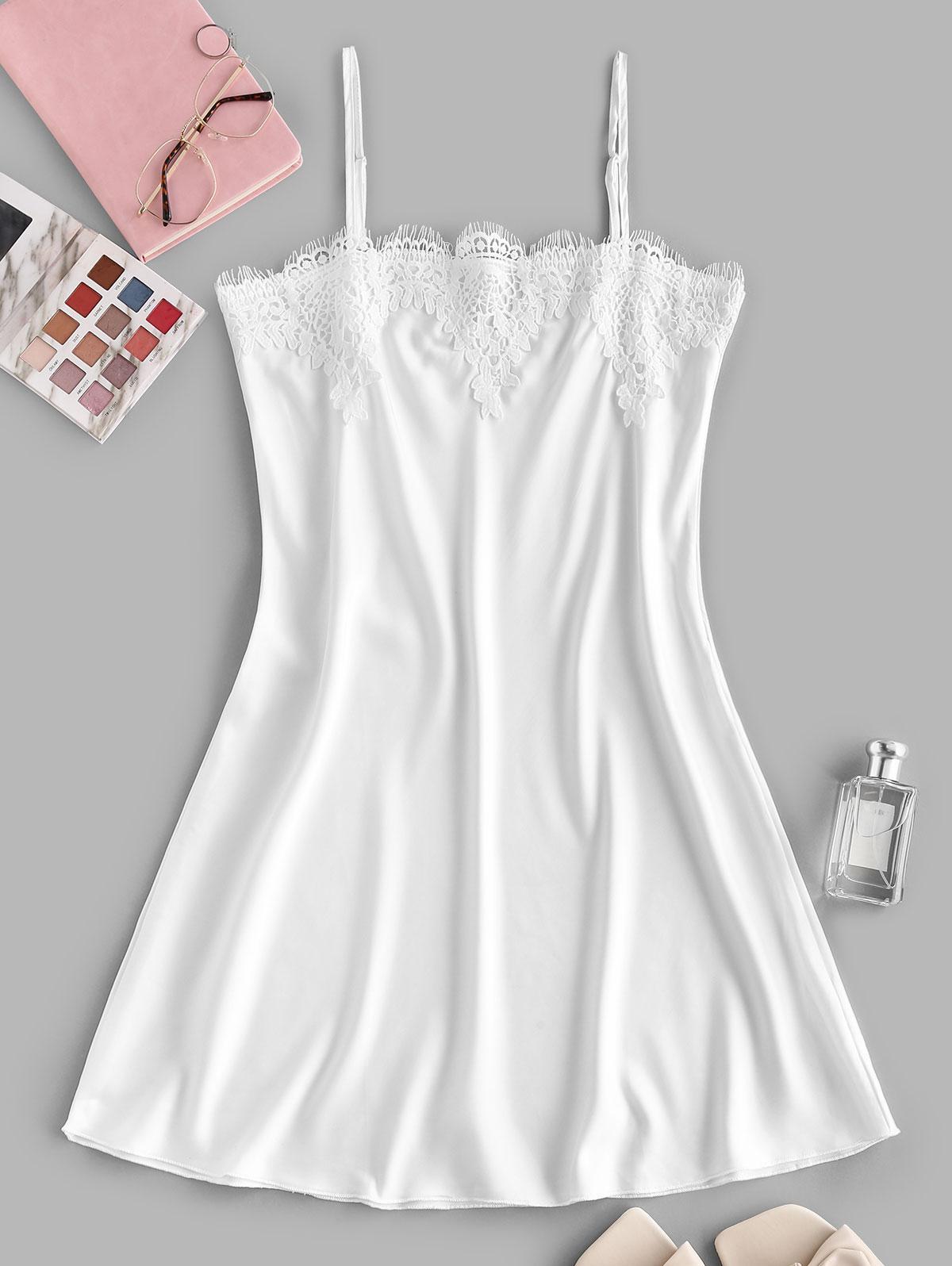Guipure Insert Cami Mini Pajama Dress