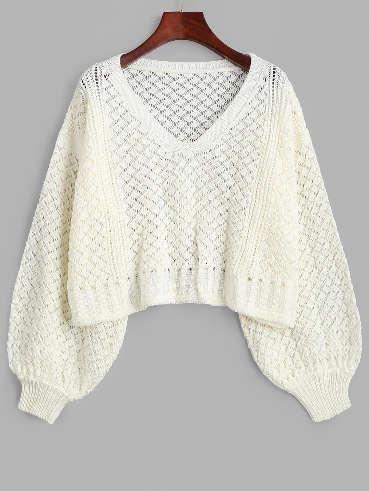 Open Knit Distressed Oversized Sweater