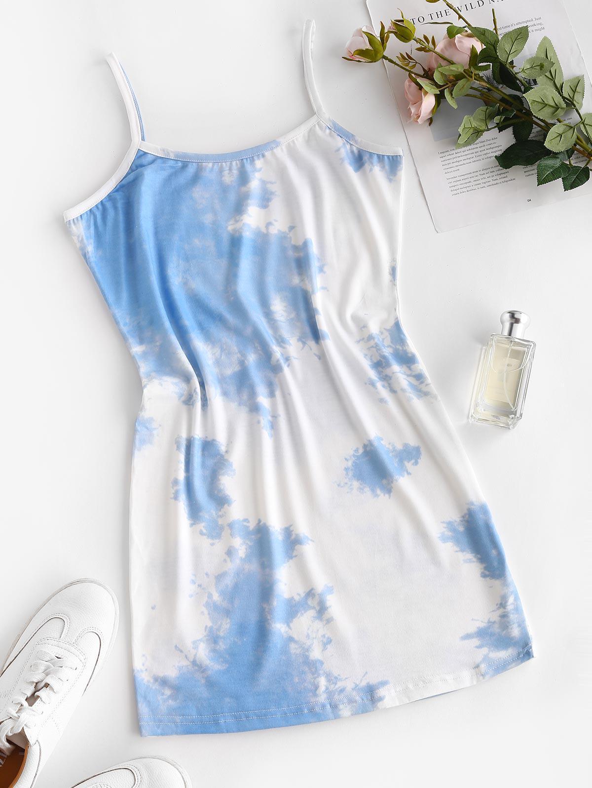Tie Dye Cami Tight Dress