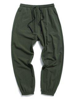 Pantalones Lápiz Ajustados De Cristal - Ejercito Verde S