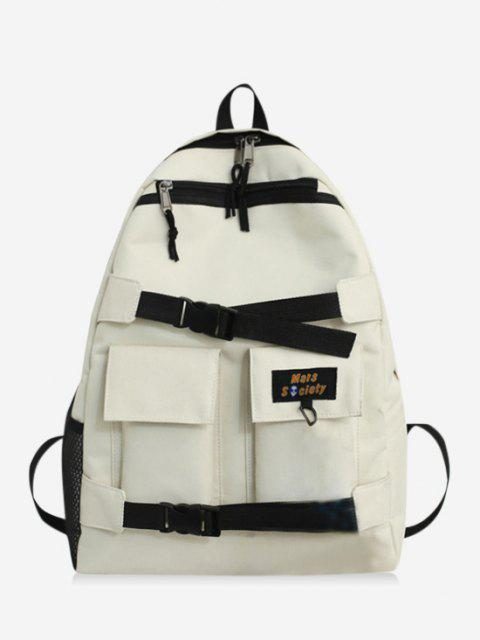 fancy High Capacity Two Tone Cargo Backpack - WHITE  Mobile