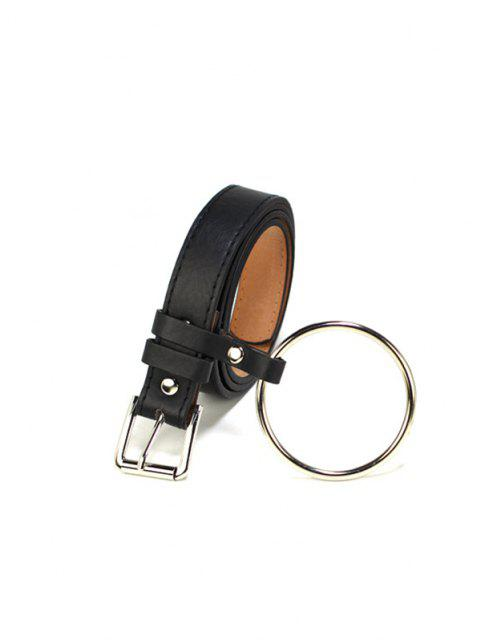 fancy Metal Circle PU Leather Waist Belt - MULTI-A  Mobile