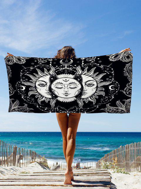 Lanzamiento de Bohemia Sol y la Luna cara de impresión Beach - Negro Azabache 75 x 150 cm Mobile