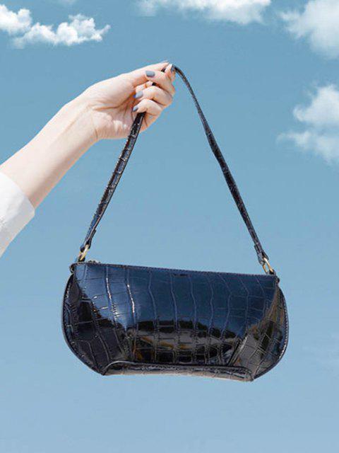 new Retro Textured Shoulder Bag - BLACK  Mobile