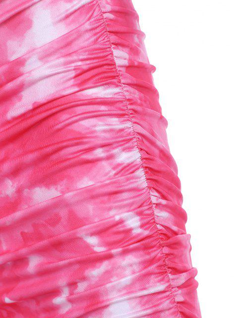 Mini Vestito di Tie-Dye con Cerniera Frontale - Rosso L Mobile