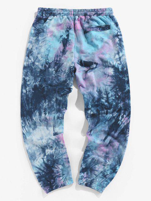 fashion ZAFUL Tie Dye Print Jogger Pants - MULTI XL Mobile