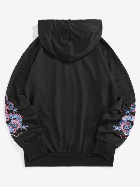 fancy ZAFUL Dragon Letter Graphic Hoodie - BLACK S Mobile