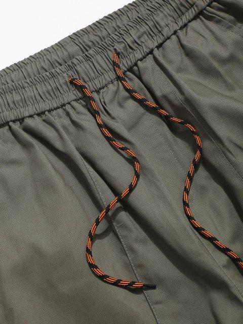 Pantalones Lápiz Casual con Apliques de Letras - Ejercito Verde XS Mobile