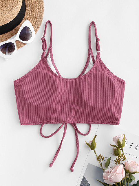 ZAFUL Kurzes Geripptes Bikini-Top - Hell-Pink S Mobile