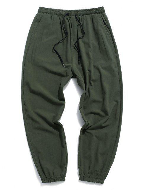 Schlichte Lässiger Bleistift Druck Beam Füße Hose - Armeegrün XS Mobile