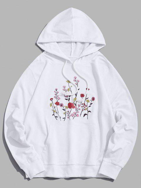 SweatàCapucheFleurià Cordon - Blanc XS Mobile