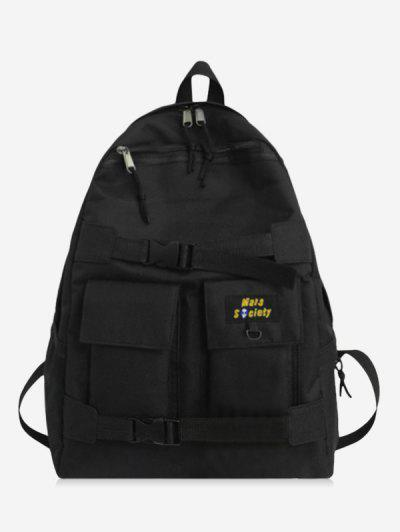 High Capacity Two Tone Cargo Backpack - Black