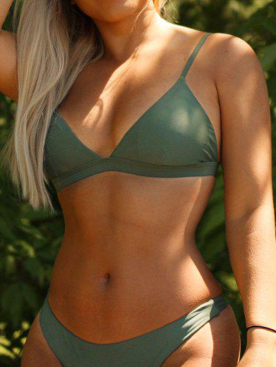 Padded Back Strappy Bathing Suit - Green S