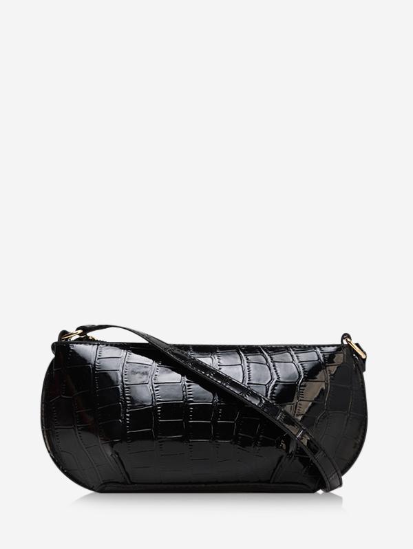 Retro Textured Shoulder Bag