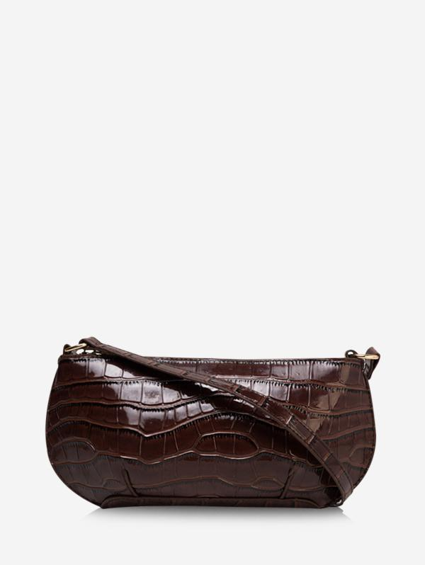 Retro Textured Shoulder Bag