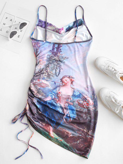 Engeldruck Seitliche Cami Kleid - Lila S Mobile