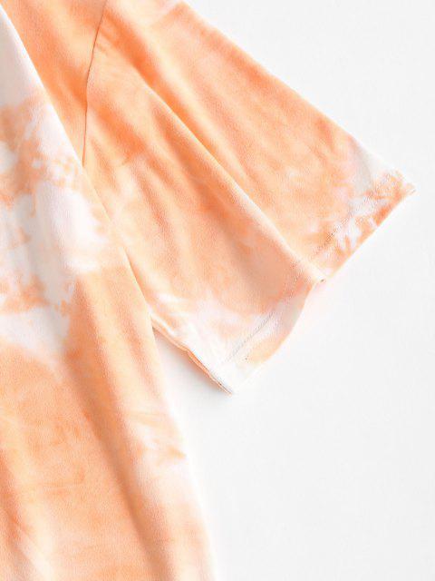 Krawattenfärbende Lounge Zufälliges Zweiteiliges Set - Weiß XL Mobile