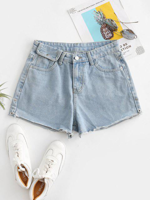 best Cuff Off Cuffed Jean Shorts - JEANS BLUE M Mobile