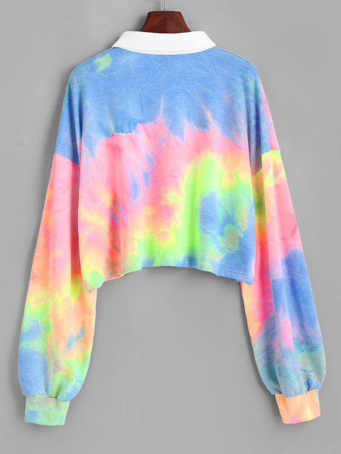 Colorful Tie Dye Cropped Sweatshirt - متعدد M Mobile