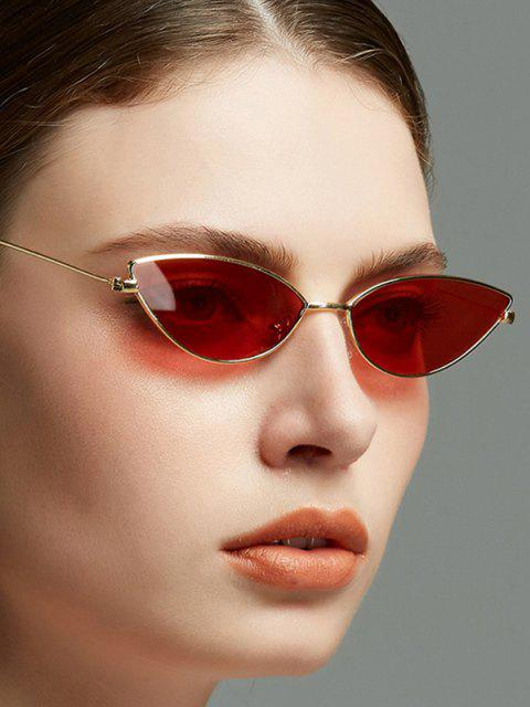 chic Metal Kitty Eye Sunglasses - RUBY RED  Mobile