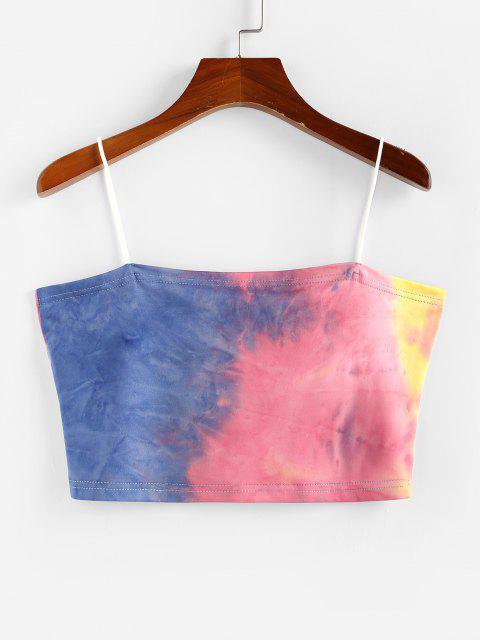 Top Corto di Tie-Dye di ZAFUL - profondo Giallo XL Mobile