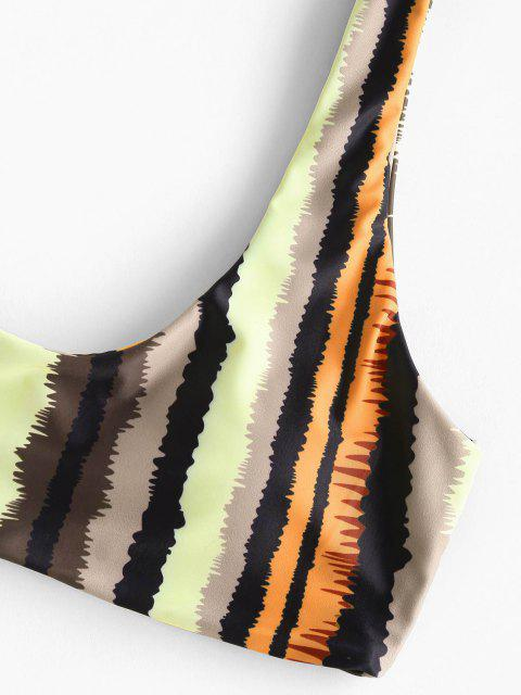 new ZAFUL Striped Tank Tanga Bikini Swimwear - MULTI M Mobile