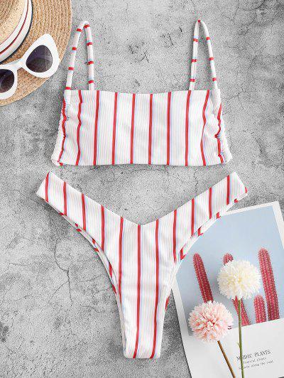 Striped Ribbed Bikini Swimwear