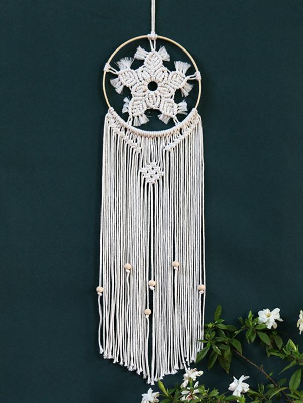 Bohemian Woven Flower Pattern Hanging Dream Catcher