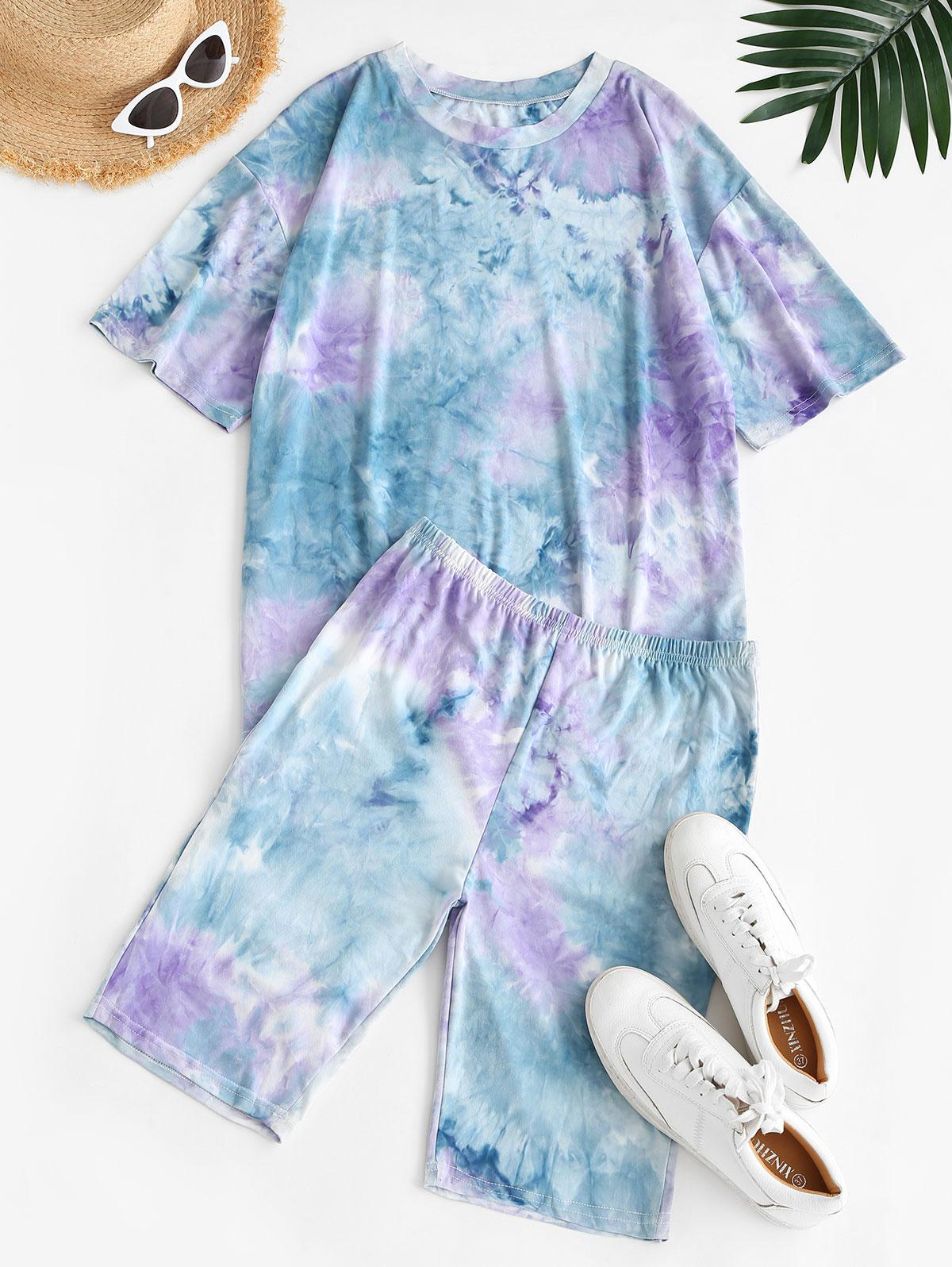 Tie Dye Lounge Casual Two Piece Set