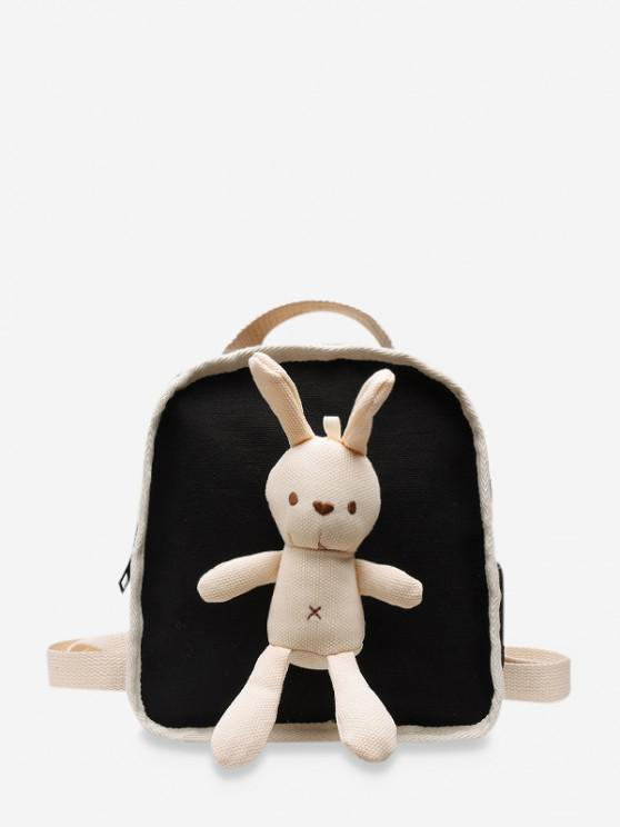 online Cute Rabbit Canvas Small Backpack - BLACK