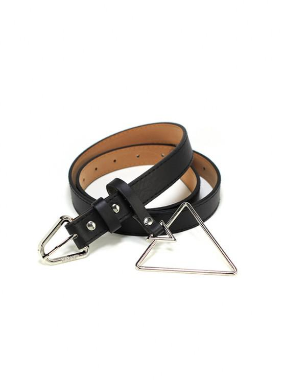 PU Metal Triangle Decoration Buckle Belt - متعددة-A