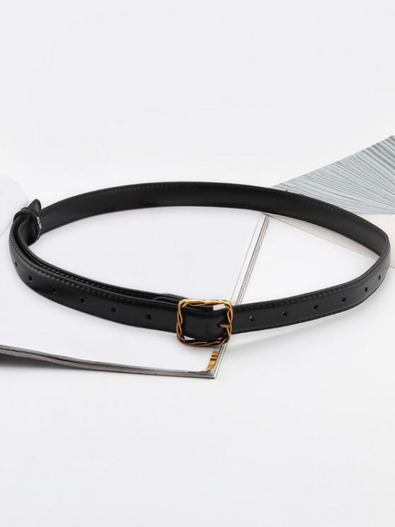 trendy Twist Buckle Leather Thin Belt - MULTI-B