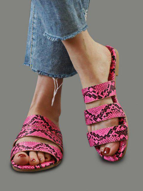 Snakeskin Pattern Beach Slides Sandals - Rosenrot EU 42 Mobile