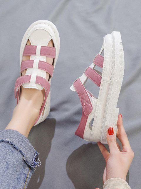 ChaussuresPlatesEvidéesBicolores - Rose clair EU 40 Mobile