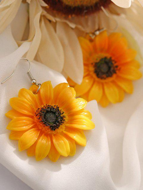 chic Sunflower Flower Drop Earrings - BEE YELLOW  Mobile