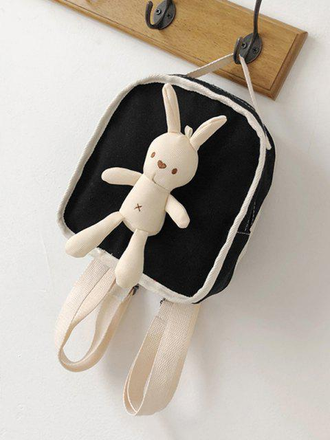 online Cute Rabbit Canvas Small Backpack - BLACK  Mobile