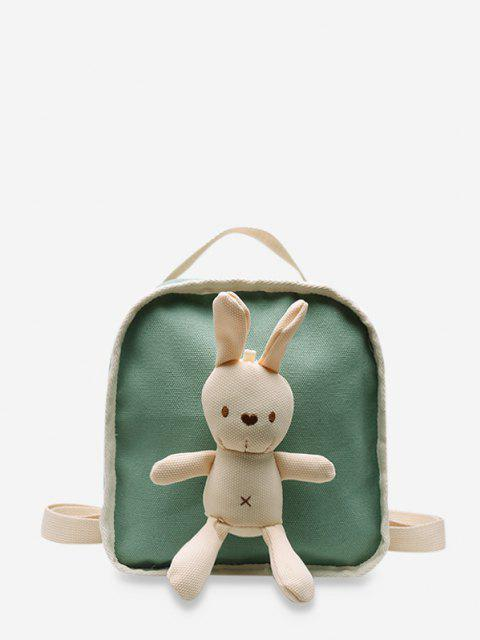 hot Cute Rabbit Canvas Small Backpack - LIGHT GREEN  Mobile