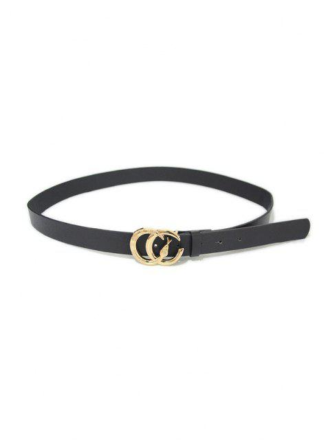 shops PU Shape Snake Buckle Belt - BLACK  Mobile
