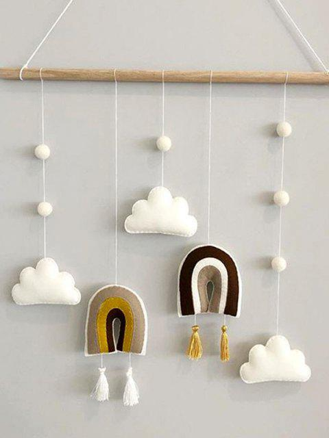 buy Home Decoration Clouds and Rainbow Shape Felt Wall Hanging - MULTI-A  Mobile