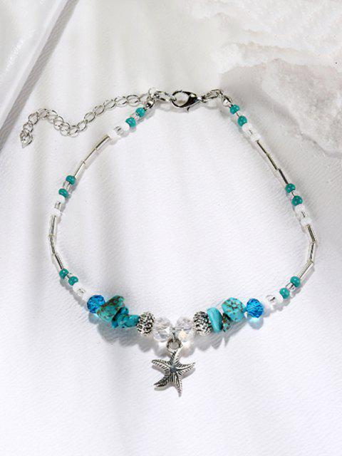 online Starfish Shape Faux Turquoise Charm Anklet - MULTI-A  Mobile