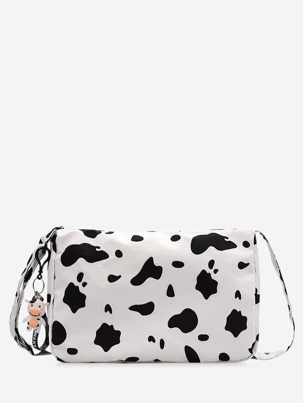 Cow Print PU Leather Crossbody Bag