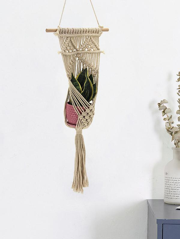 Handmade Braided Macrame Plant Hanger for Pot Holder