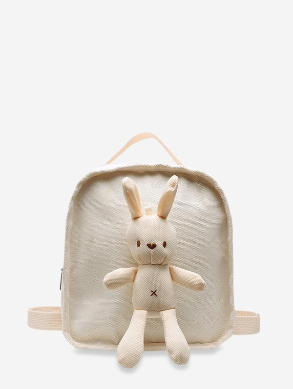 Cute Rabbit Canvas Small Backpack