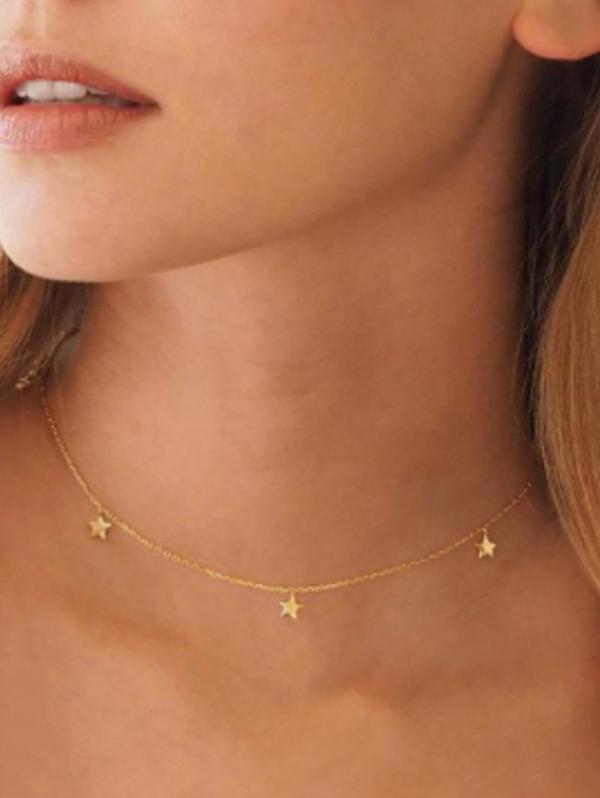 Star Chain Collarbone Necklace