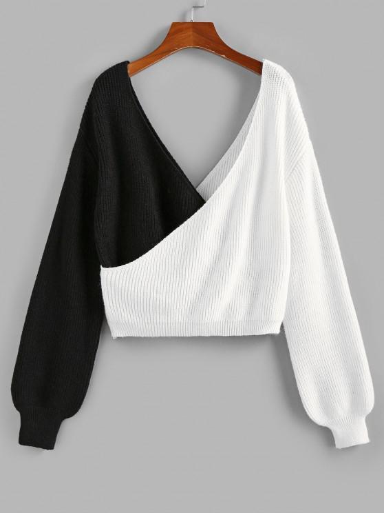 ZAFUL Jersey de Hombro Caído y Cordones - Multicolor S